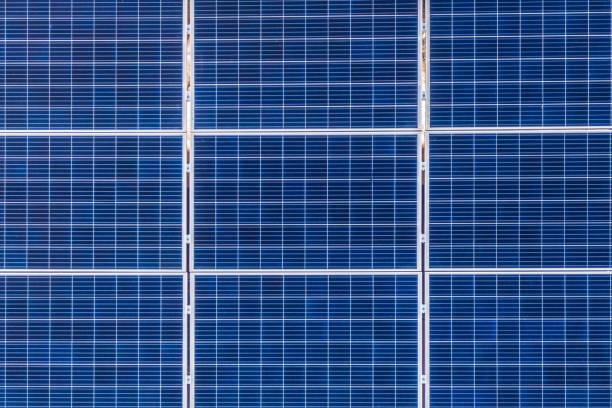 solar panels texture - solar panel imagens e fotografias de stock