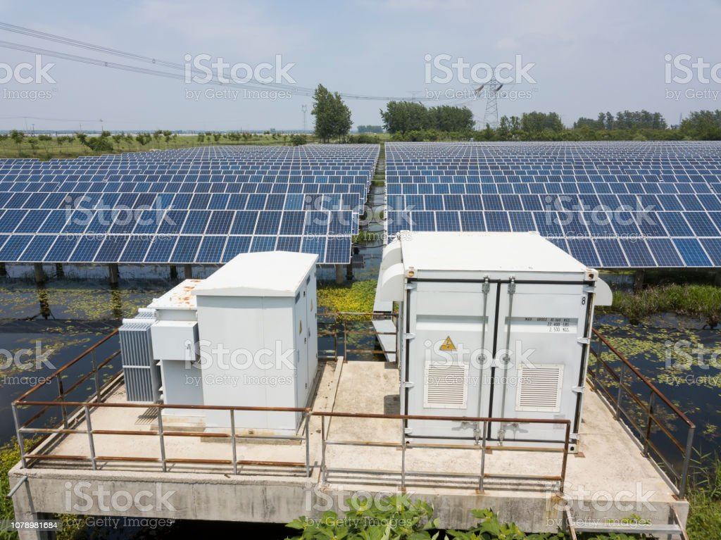 solar photovoltaic and transformer box