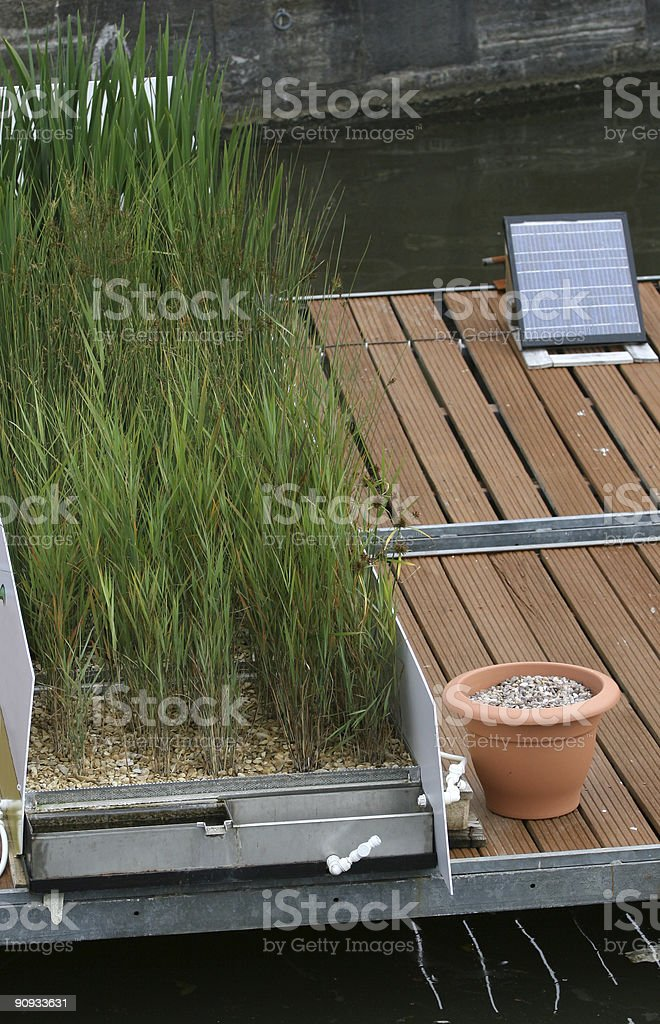 Solar photovoltaic filtration royalty-free stock photo
