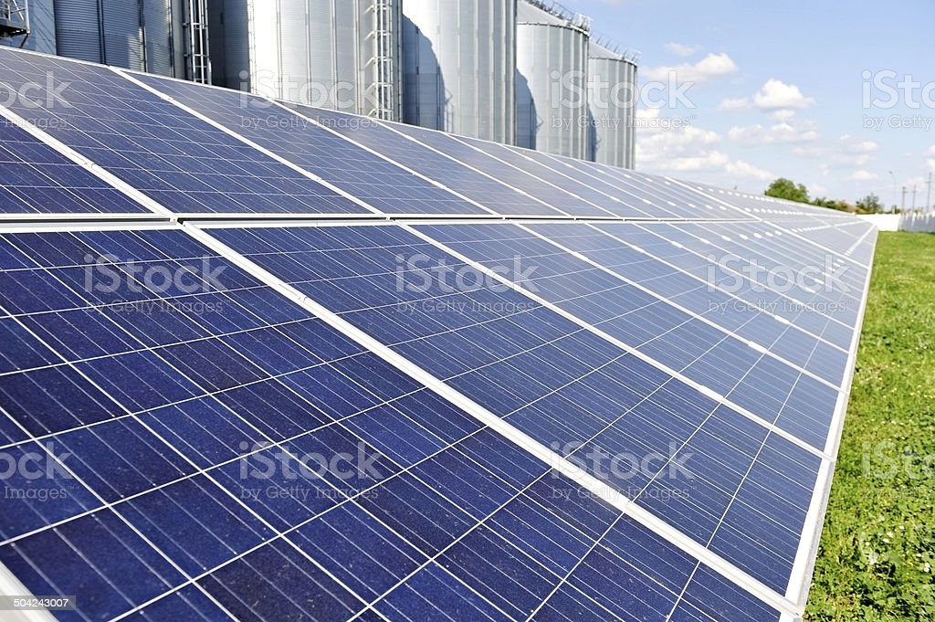 Solar photovoltaic panel stock photo