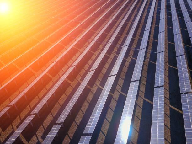 Solar photovoltaic panels and solar photovoltaic power generatio – zdjęcie