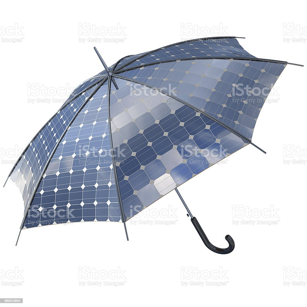solar photovoltaic umbrella royalty-free stock photo