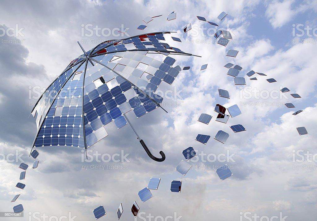 Energia solare fotovoltaica ombrello foto stock royalty-free