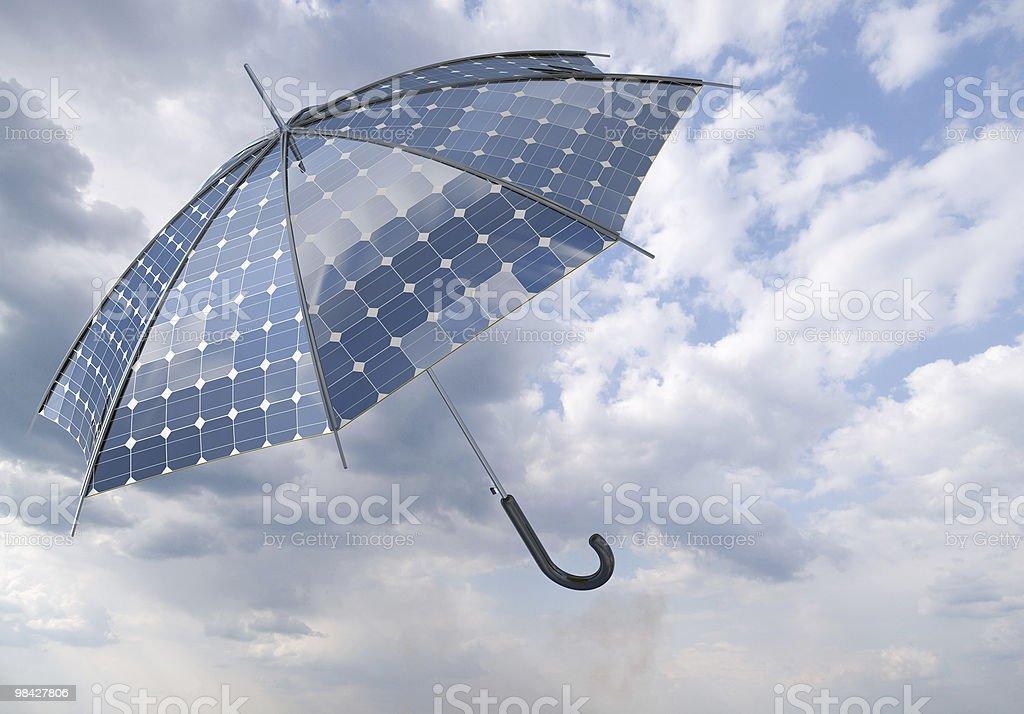 solar photovoltaic umbrella royalty-free stock photo