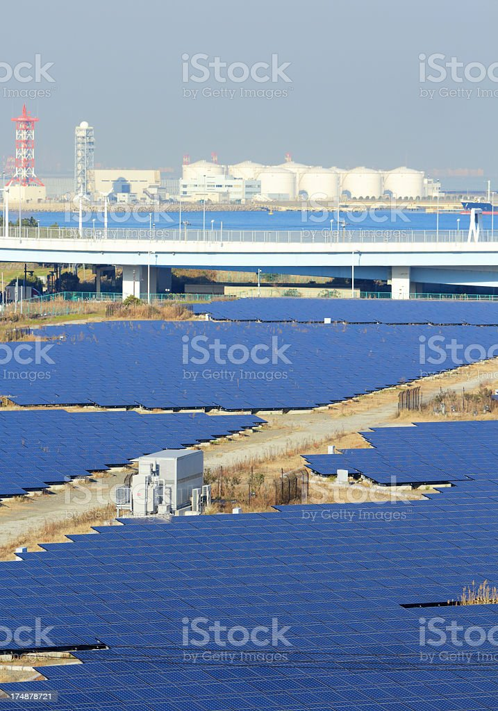 solar plant royalty-free stock photo