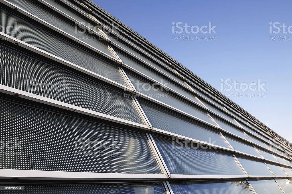 Solar Power Energy Station and Building - XLarge stock photo