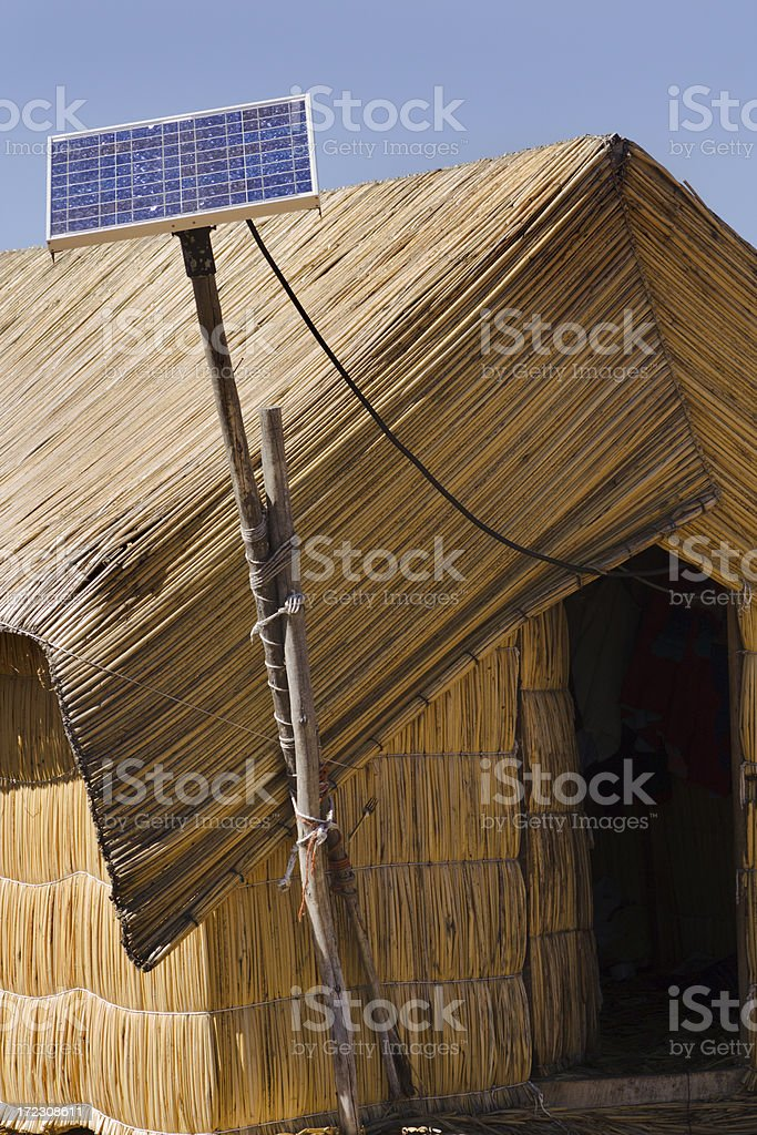 Solar Power on the Floating Island royalty-free stock photo