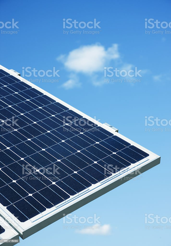 Solar Power Panels Against Blue Sky royalty-free stock photo
