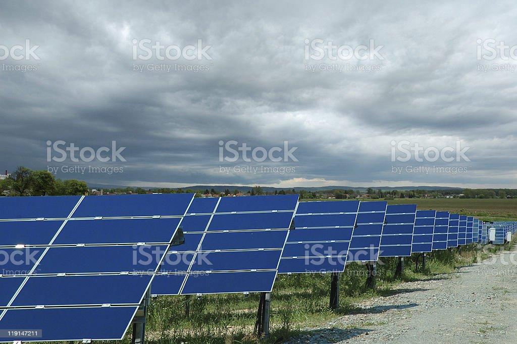 Solar power plant royalty-free stock photo