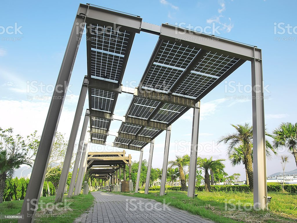 Solar power plant royalty-free stock photo