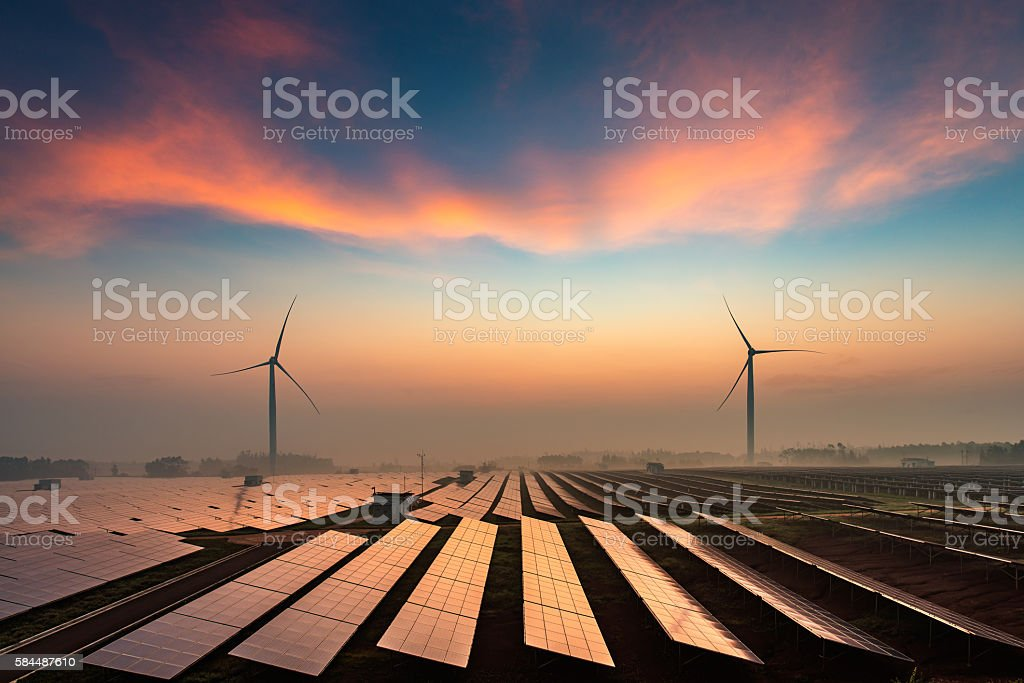 Planta de energía Solar - foto de stock