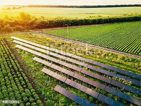 istock Solar power supply for the farm 836150534