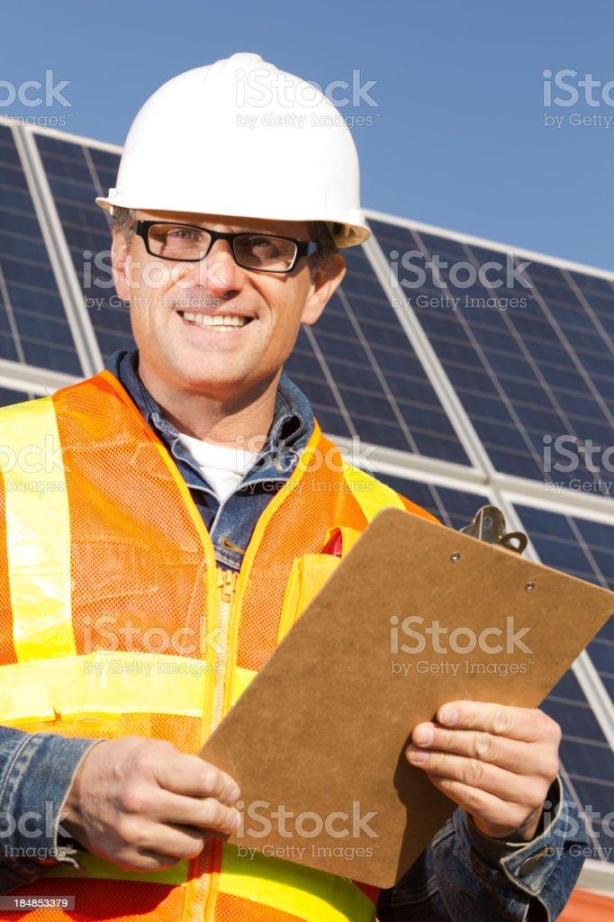 Solar Power Worker royalty-free stock photo