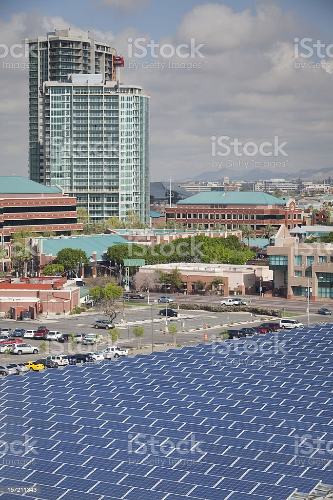 Solar Powered City stock photo