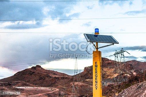 Solar powered emergency station