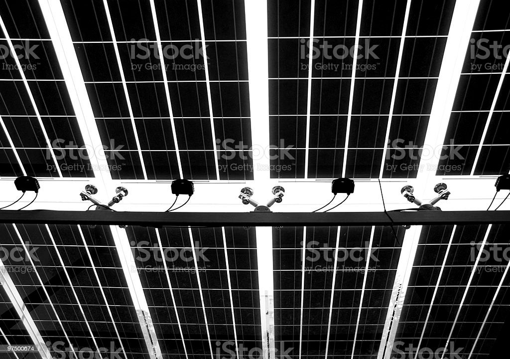 Solar Roof Seen from Below royalty-free stock photo