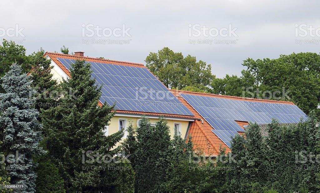 Solar Roofs royalty-free stock photo