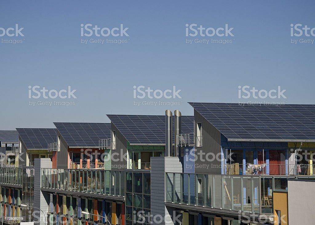 solar roofs stock photo
