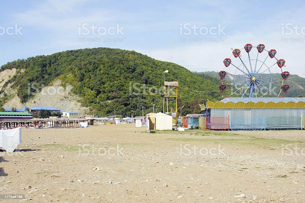 solar seaside royalty-free stock photo