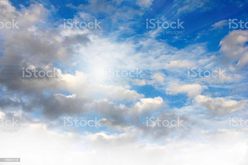 solar sky and clouds royalty-free stock photo