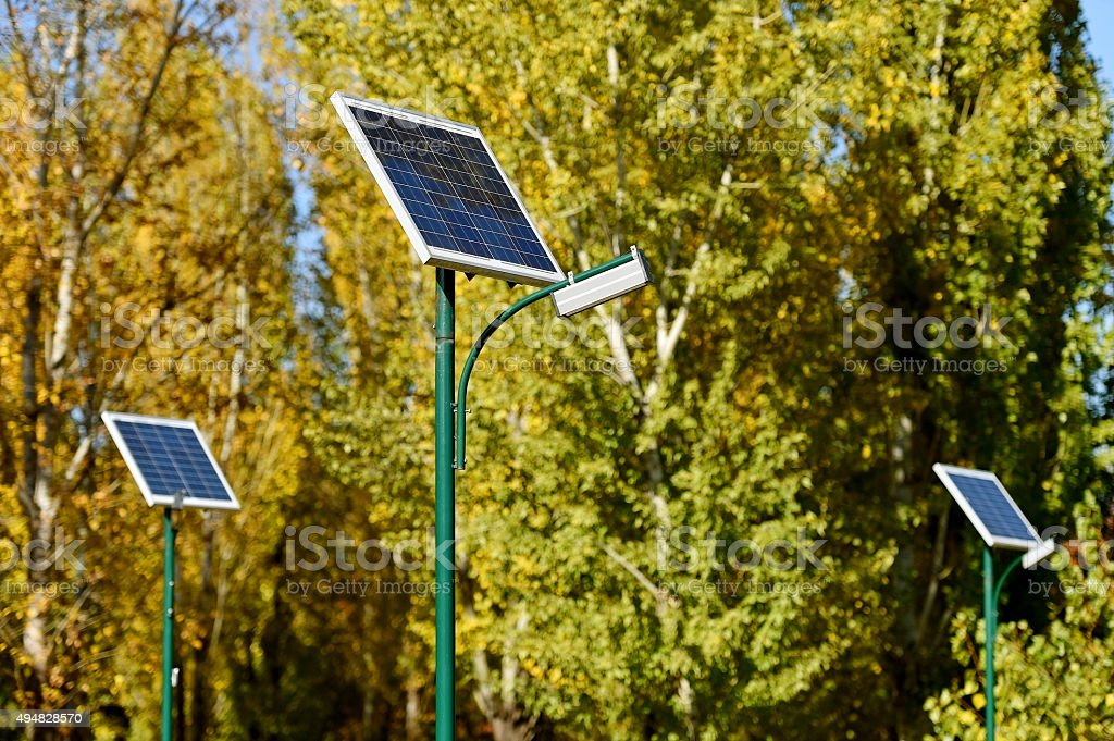 Solar street lamp stock photo