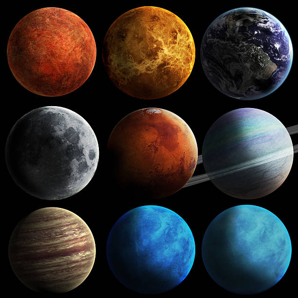 système solaire et espace objets - venus photos et images de collection