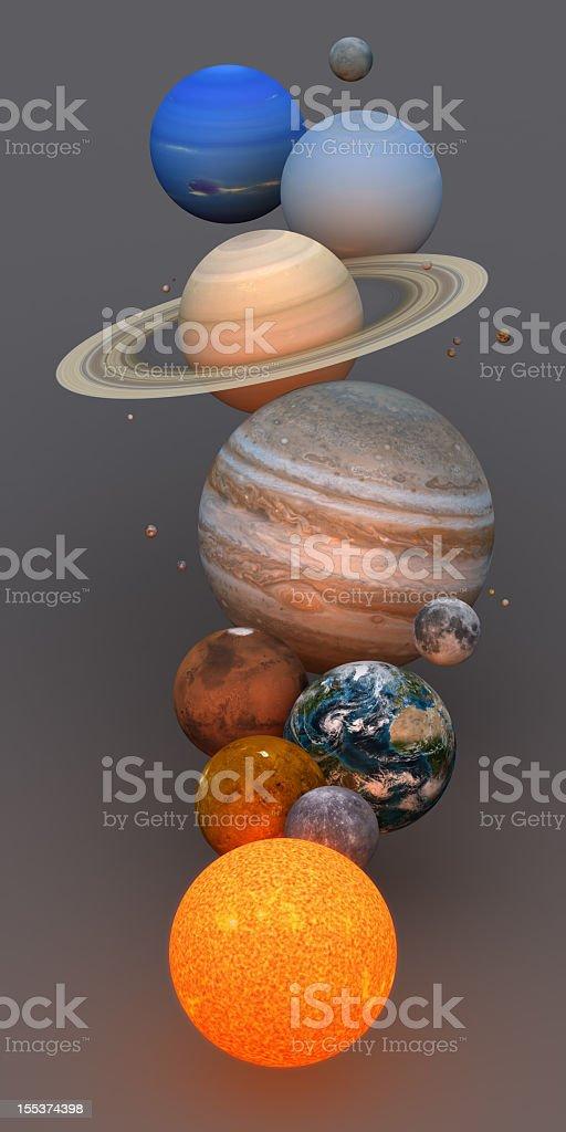 Solar System royalty-free stock photo