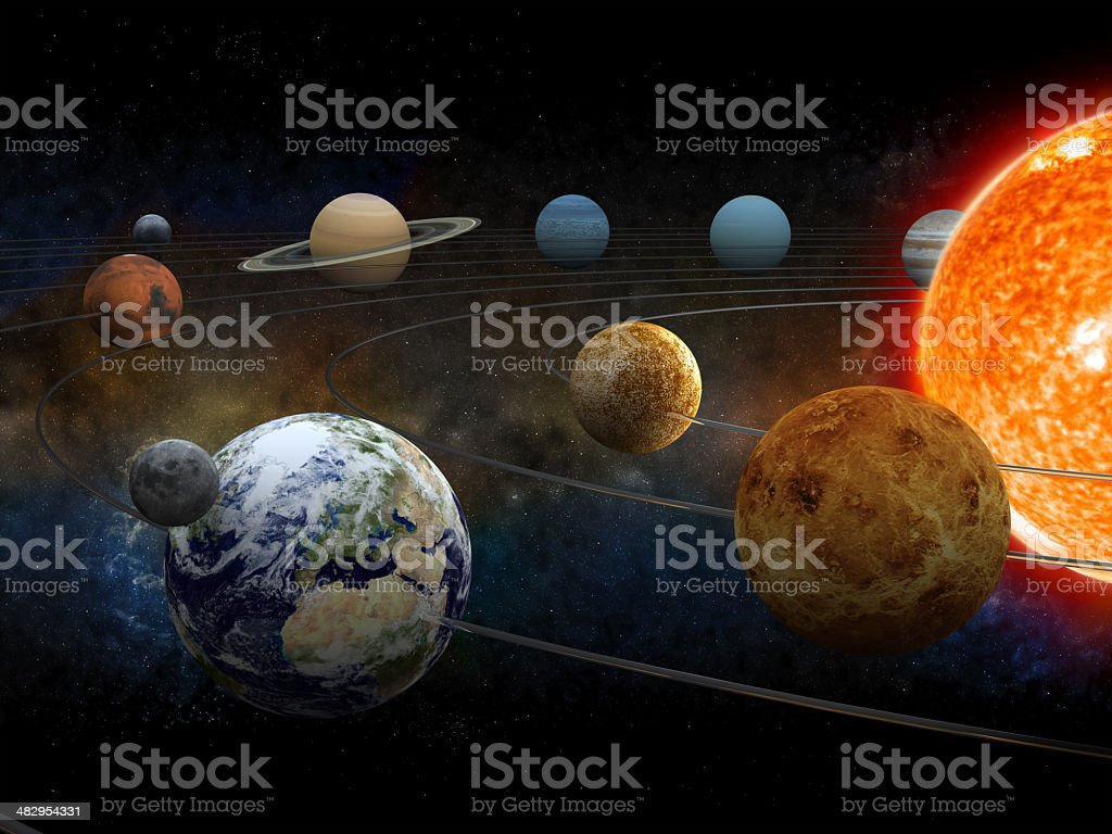 Solar System Stock Photo More Pictures Of Astronomy Istock Free Illustration Orbit Diagram Digital Royalty