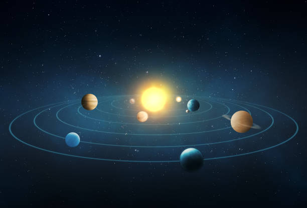solar system - space and astronomy stock photos and pictures