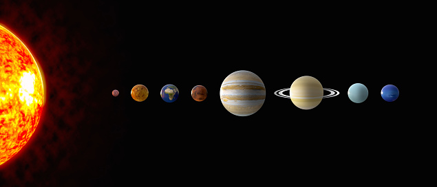 Solar system Planets 3D iIllustrazioni
