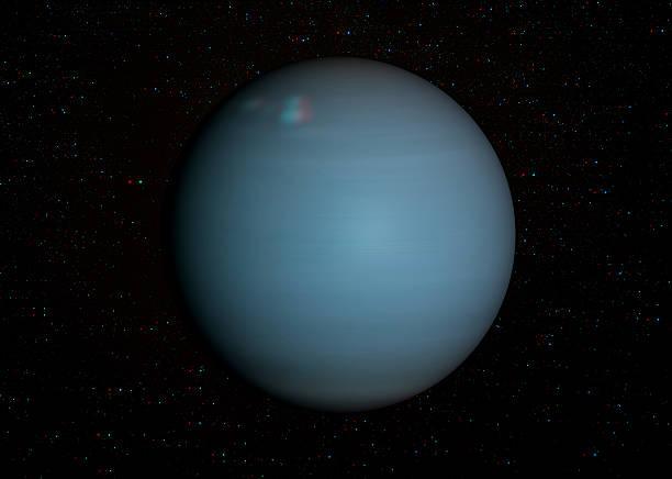 3 D Sonnensystem-Serie: Uranus mit stars im Hintergrund. – Foto