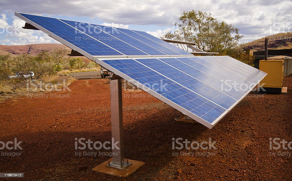 Solar System with backup generator royalty-free stock photo