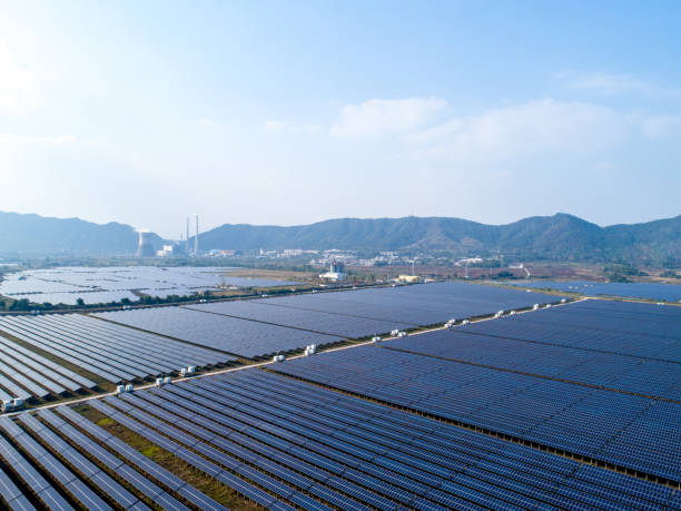 Solar Thermal Power Station stock photo