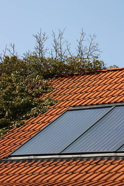 Solar thermal-system hoch Größe – Foto