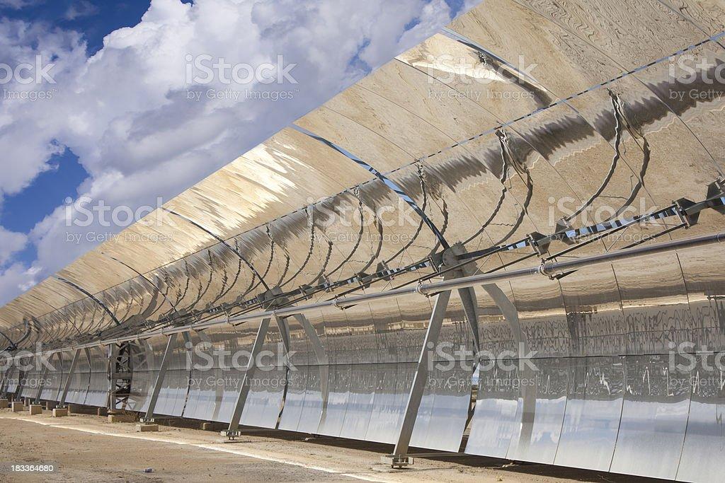 Solar Trough Collector, parabolic stock photo