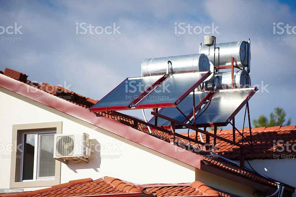 Solar Water Heater Stock Photo Download Image Now Istock