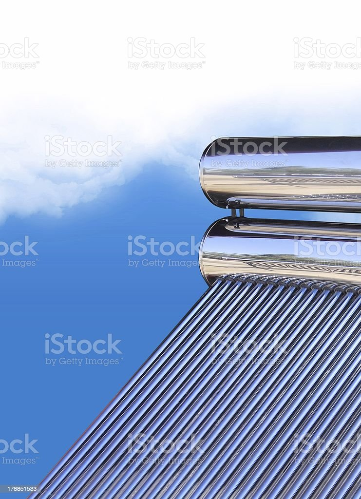 Solar Water Heater with Tubes royalty-free stock photo
