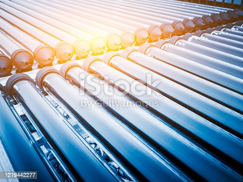 Solar water heating thermal collector system.