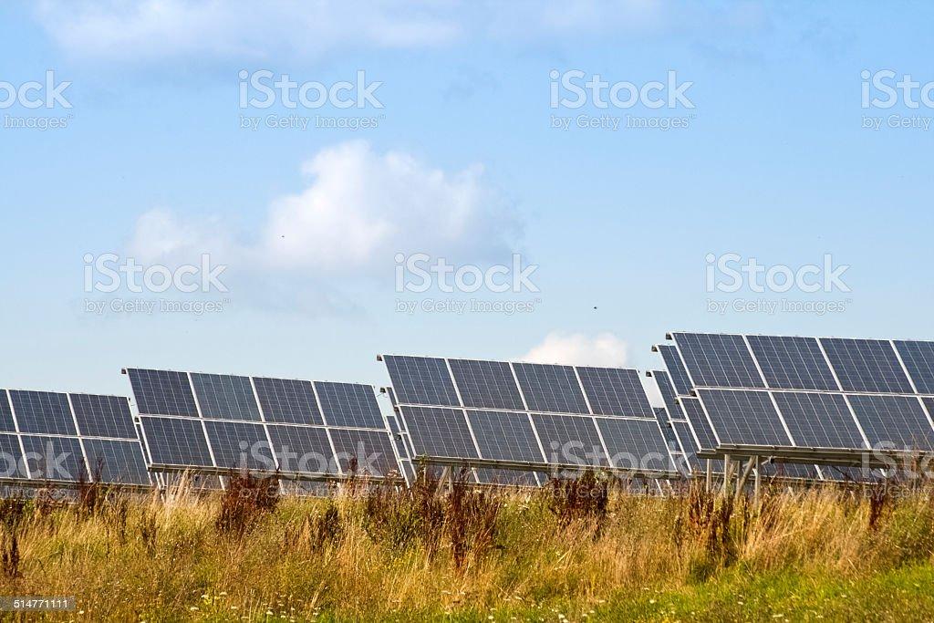 Solaranlage stock photo