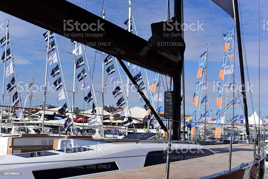 Solaris 58 Dinali @ Istanbul Boat Show 2015 stock photo