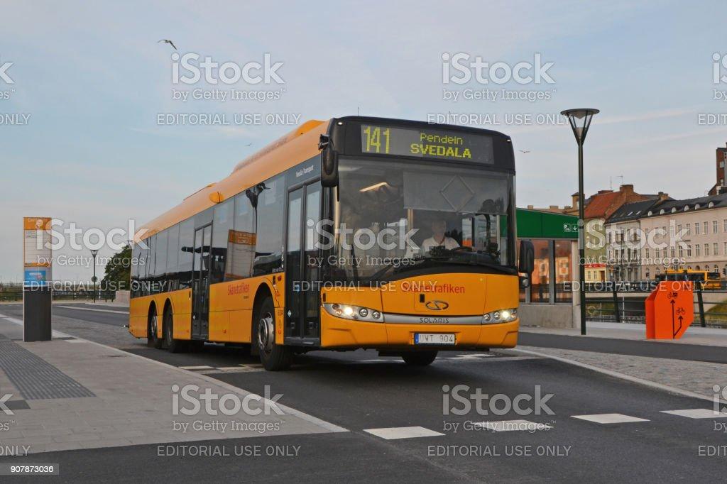 Solaris Urbino 15 LE CNG in motion - foto stock
