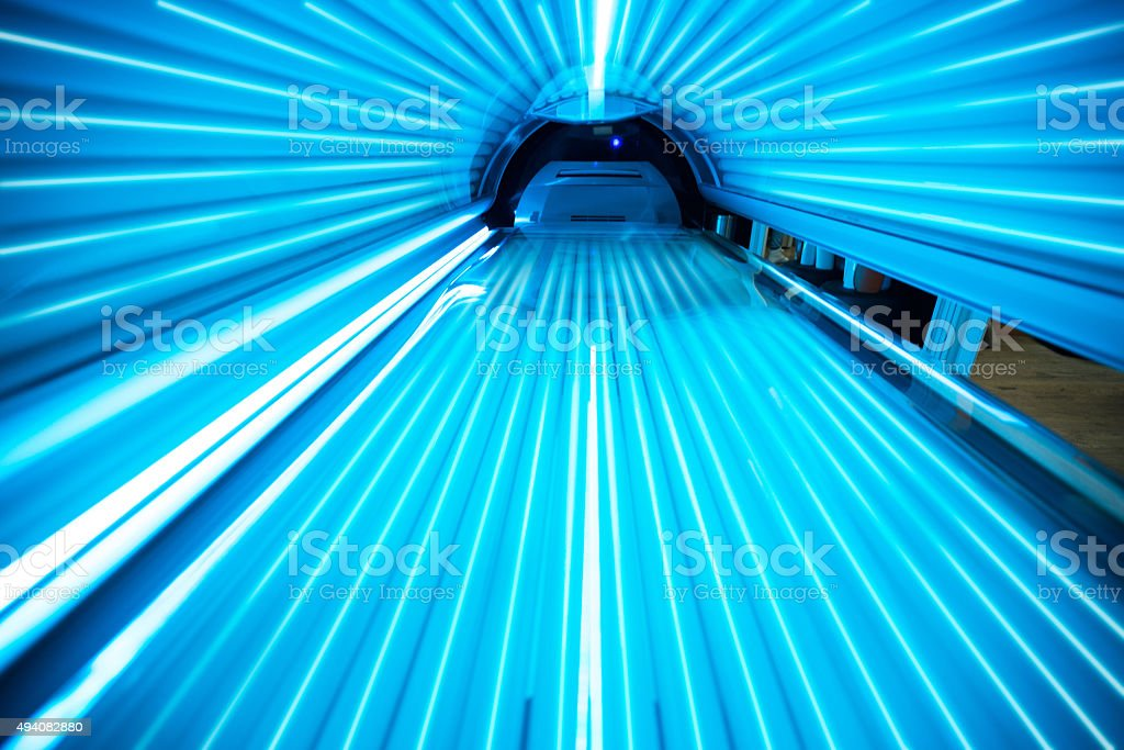 Solarium tanning bed stock photo