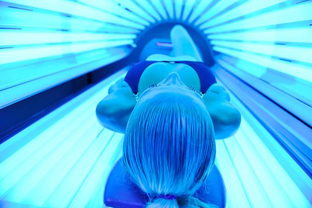 solarium treatment stock photo