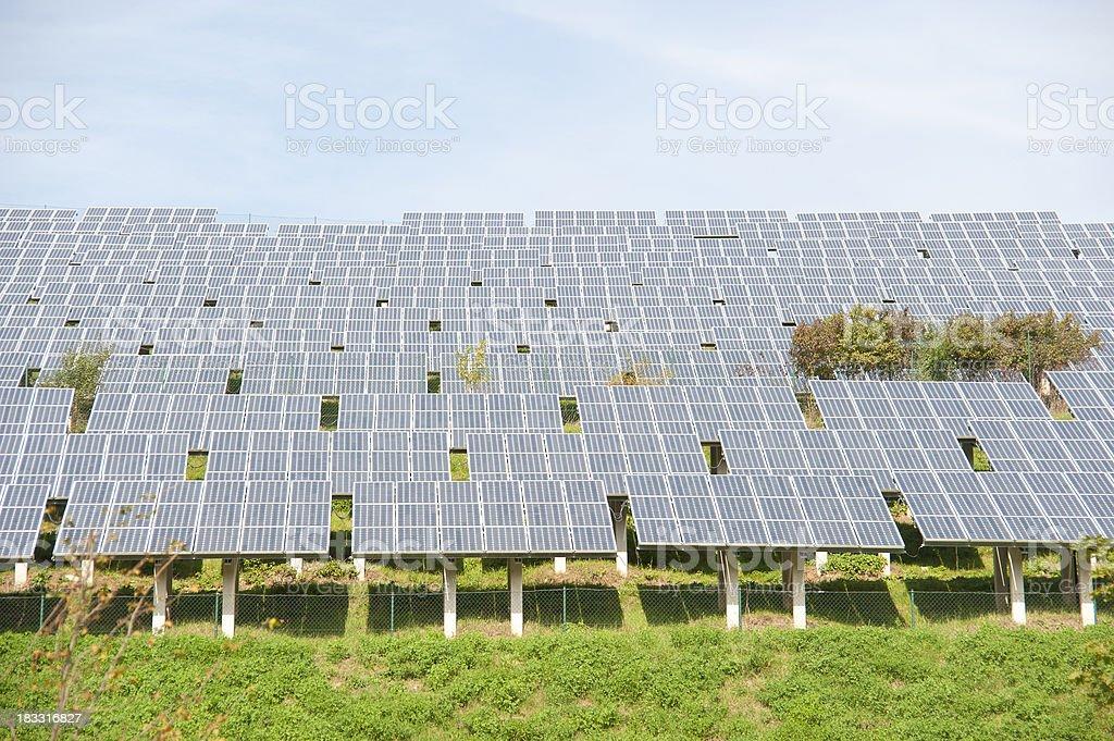 Solarpark Solarpanels royalty-free stock photo
