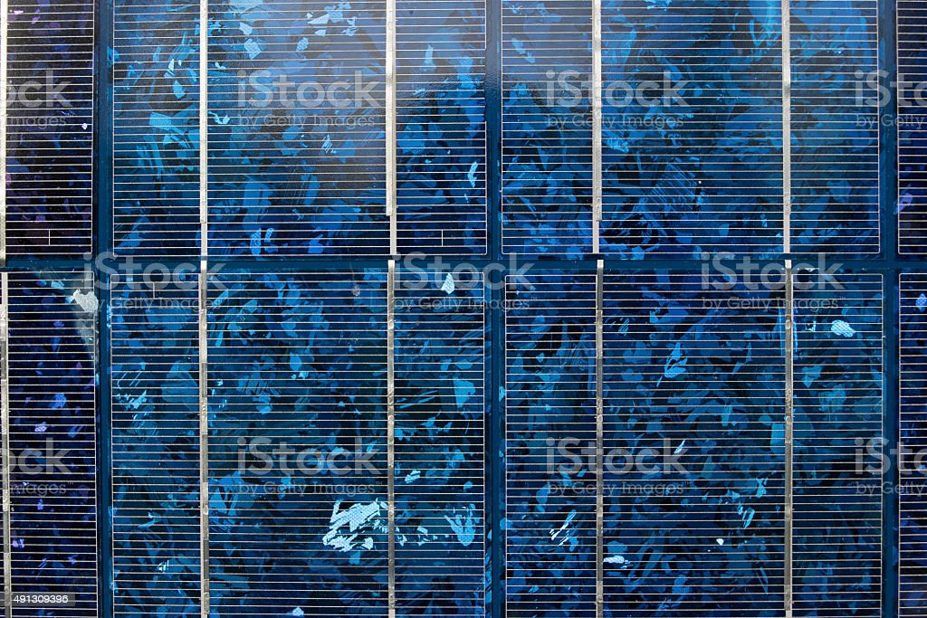 Solarpower. Simpel model often used in recreational places stock photo
