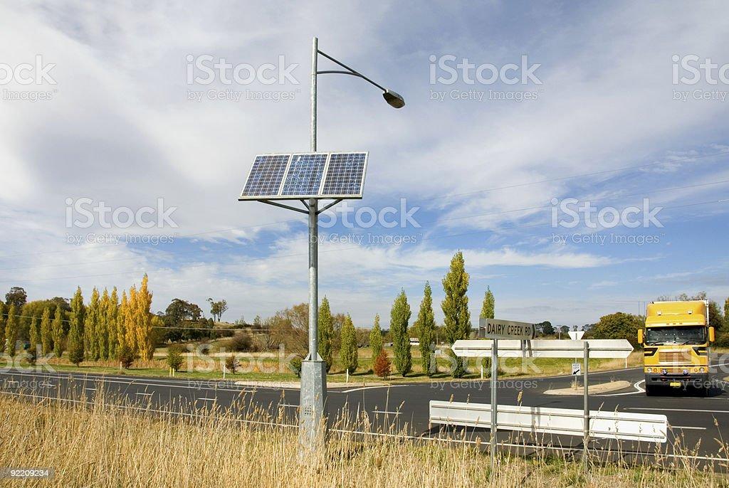 Solar-Powered Street Light royalty-free stock photo