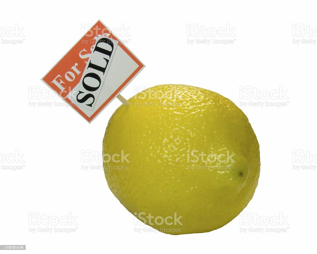 Sold a Lemon (isolated) royalty-free stock photo