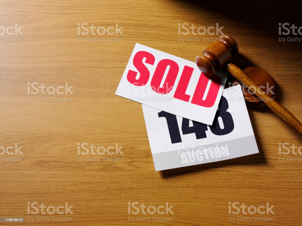 Sold at the Auction stock photo