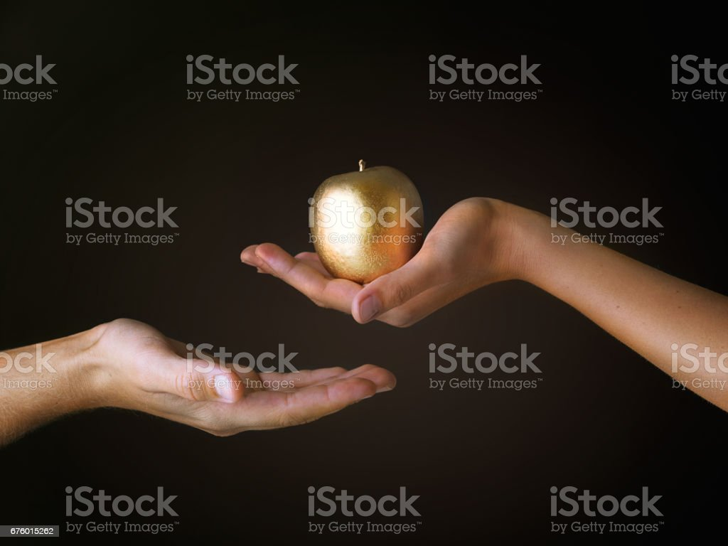 Sold his soul for gold stock photo