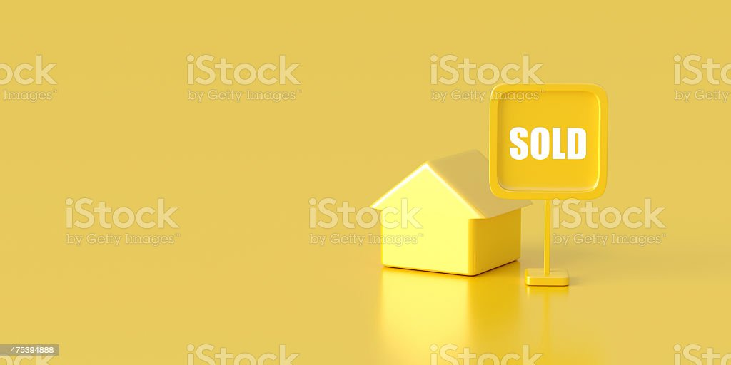 Sold home stock photo